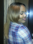partial sew in with middle part